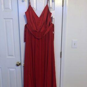 Floor length Vera Wang bridesmaid dress